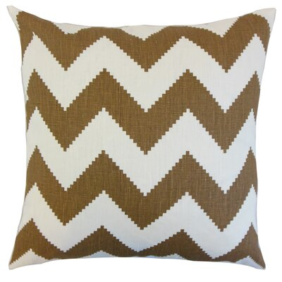 Maillol Zigzag Linen Throw Pillow Color: Cocoa, Size: 18 x 18