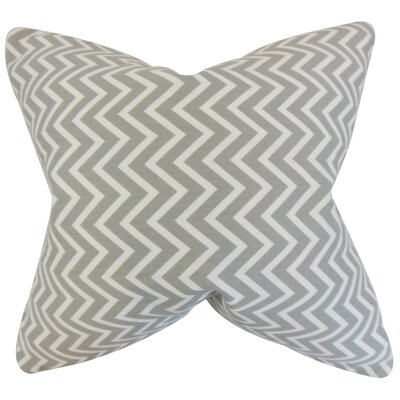Sula Zigzag Cotton Throw Pillow Color: Light Gray, Size: 22 x 22