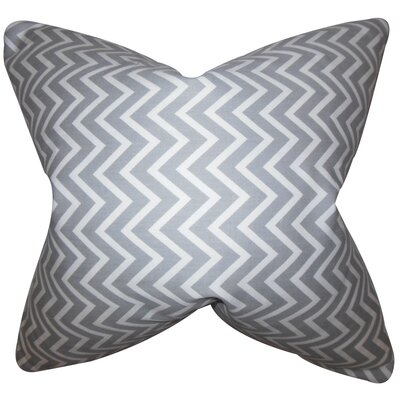 Sula Zigzag Cotton Throw Pillow Color: Gray, Size: 18 x 18