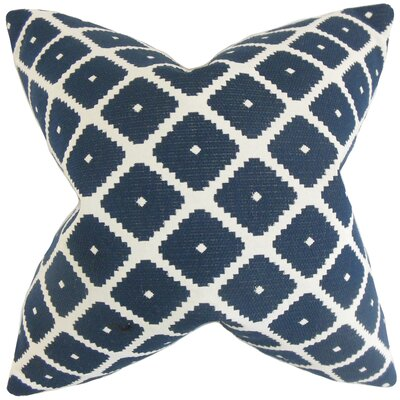 Fallon Geometric Throw Pillow Color: Blue, Size: 18 x 18