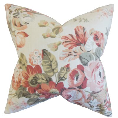 Quela Floral Throw Pillow Color: Blush