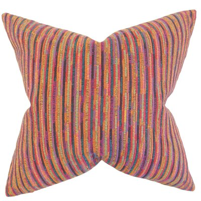 Qiturah Stripes Throw Pillow Color: Multi, Size: 18 x 18