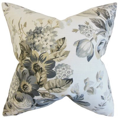 Quela Floral Throw Pillow Color: Pewter