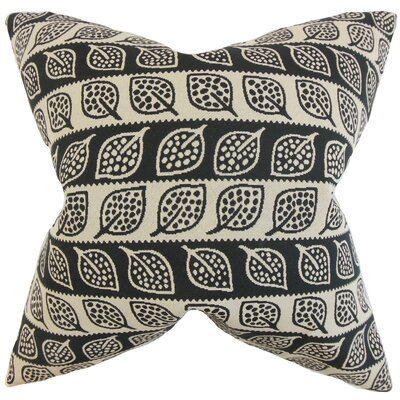 Ottilie Foliage Throw Pillow Color: Black, Size: 24 x 24