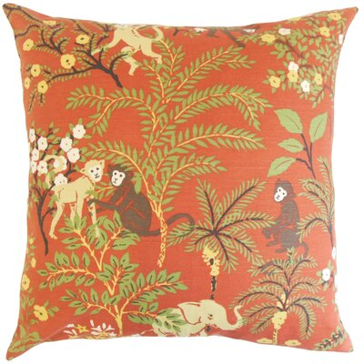 Fiametta Foliage Throw Pillow Color: Spice, Size: 24 x 24