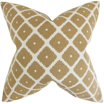 Fallon Geometric Cotton Throw Pillow Cover Color: Copper