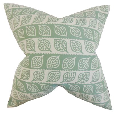 Ottilie Foliage Throw Pillow Color: Leaf Green, Size: 18 x 18