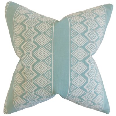 Reilly Geometric Throw Pillow Color: Cove