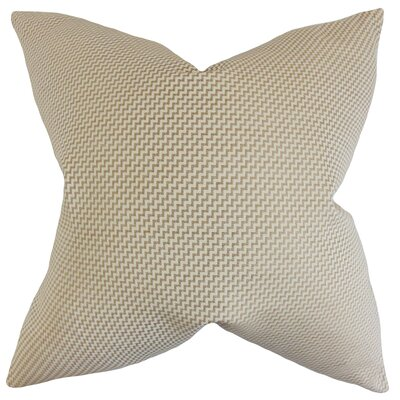 Gilberte Geometric Bedding Sham Color: Sand, Size: King