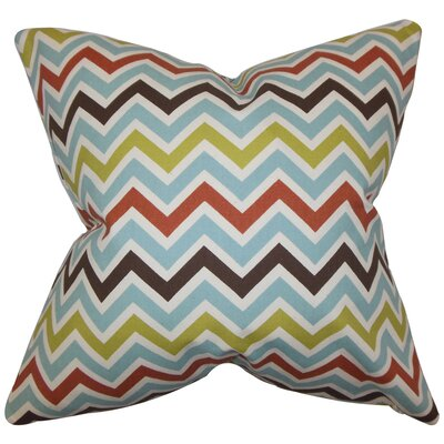 Quito Zigzag Cotton Throw Pillow Size: 18 x 18