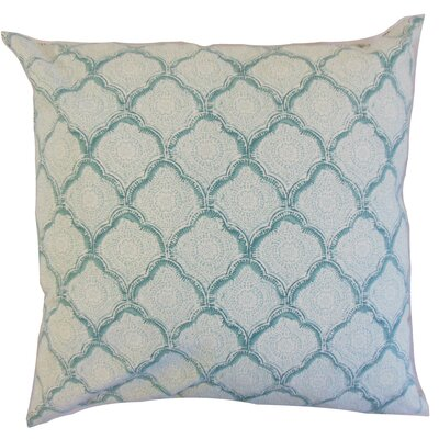 Padma Geometric Cotton Throw Pillow Color: Aqua Mist, Size: 18 x 18