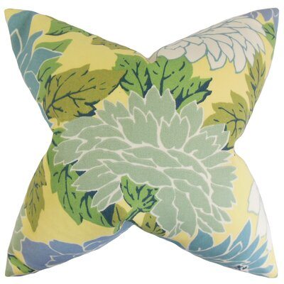 Delaney Floral Throw Pillow Color: Seaside, Size: 18 x 18