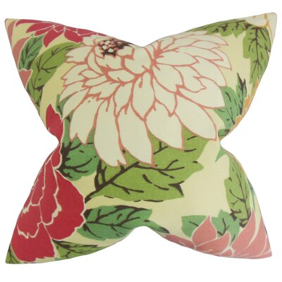 Delaney Floral Throw Pillow Color: Sorbet, Size: 18 x 18