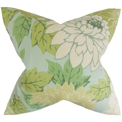 Delaney Floral Throw Pillow Color: Blue, Size: 18 x 18