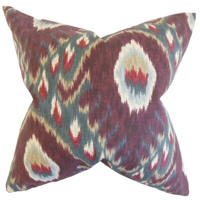 Dai Ikat Throw Pillow Cover Color: Currant