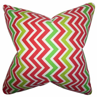 Howel Zigzag Cotton Throw Pillow Color: Pink, Size: 24 x 24