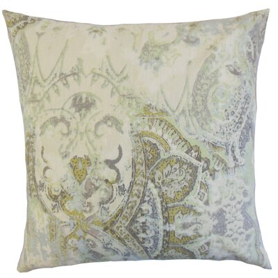 Havilah Floral Linen Throw Pillow Color: Vineyard, Size: 18 x 18