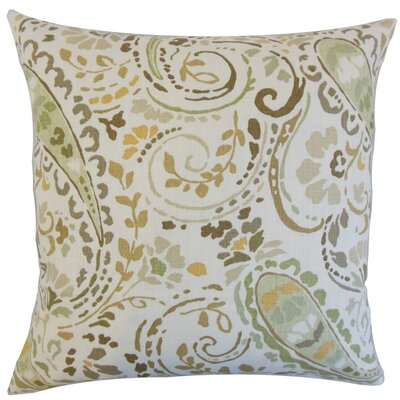 Robbia Floral Linen Throw Pillow Color: Dusk, Size: 22 x 22