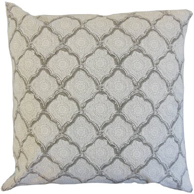 Padma Geometric Cotton Throw Pillow Color: Mineral, Size: 24 x 24