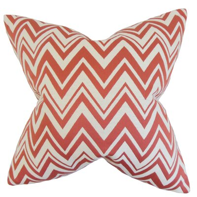 Eelia Zigzag Throw Pillow Color: Adobe, Size: 18 x 18