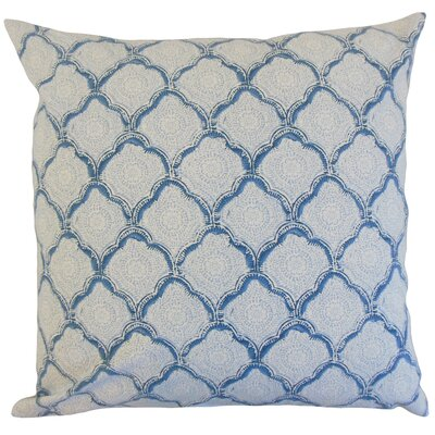 Padma Geometric Cotton Throw Pillow Color: Sky, Size: 18 x 18