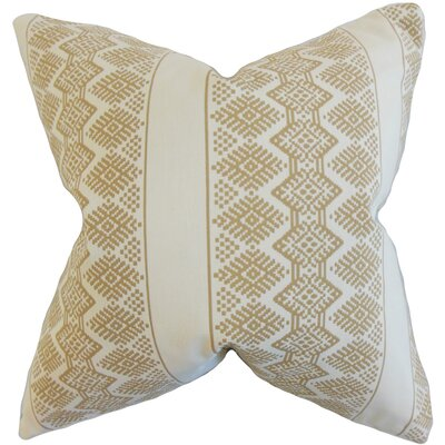 Reilly Geometric Throw Pillow Color: Taupe