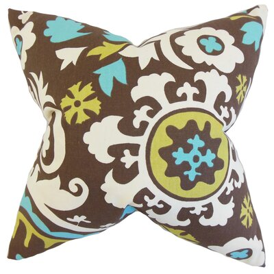 Pavati Floral Cotton Throw Pillow Size: 18 x 18