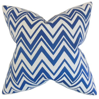 Eelia Zigzag Throw Pillow Color: Blue, Size: 18 x 18