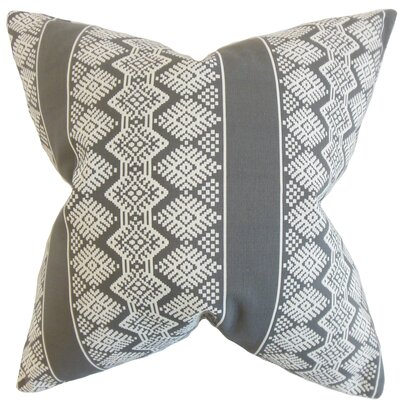 Reilly Geometric Throw Pillow Color: Truffle