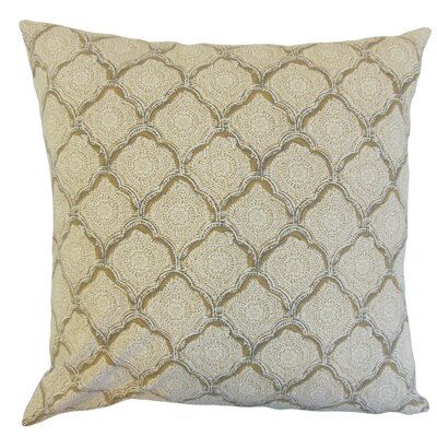 Padma Geometric Cotton Throw Pillow Color: Wheat, Size: 18 x 18