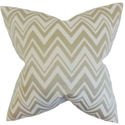 Eelia Zigzag Throw Pillow Color: Straw, Size: 18 x 18