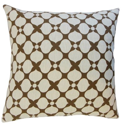 Qiturah Geometric Linen Throw Pillow Color: Cashew, Size: 18 x 18