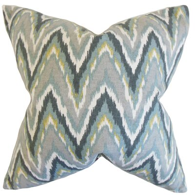 Matisse Zigzag Cotton Throw Pillow Color: Mineral, Size: 18 x 18