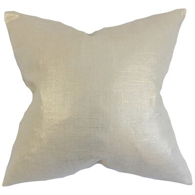 Florin Solid Bedding Sham Size: Euro, Color: Antique Gold