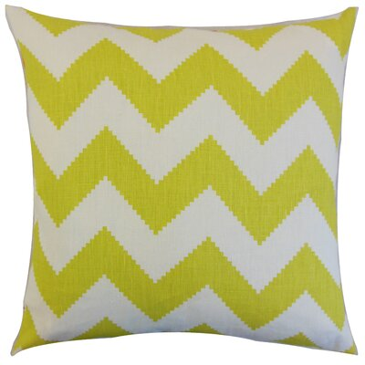 Maillol Zigzag Linen Throw Pillow Color: Linden, Size: 18 x 18