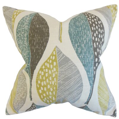 Valter Geometric Cotton Throw Pillow Color: Rain