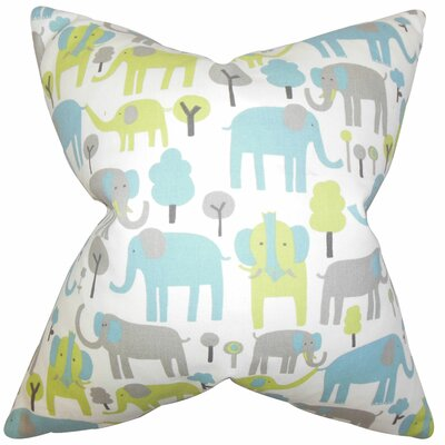 Carleton Animal Cotton Throw Pillow Color: Blue, Size: 22 x 22