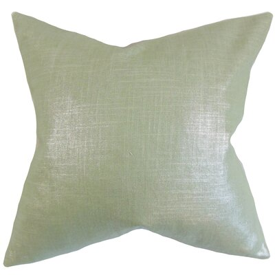 Florin Solid Bedding Sham Size: Queen, Color: Aqua
