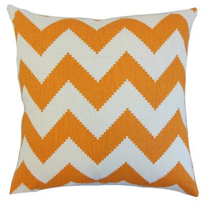 Maillol Zigzag Linen Throw Pillow Color: Persimmon, Size: 18 x 18