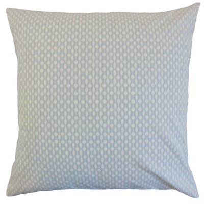 Orit Geometric Cotton Throw Pillow Color: Chambray, Size: 18 x 18