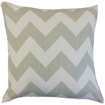 Maillol Zigzag Linen Throw Pillow Color: Smoke, Size: 18 x 18