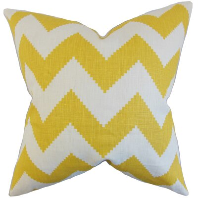 Maillol Zigzag Linen Throw Pillow Color: Squash, Size: 18 x 18