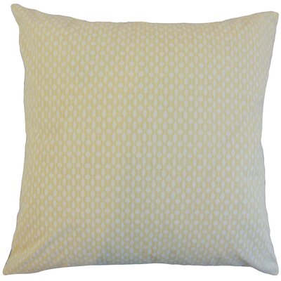Orit Geometric Cotton Throw Pillow Color: Honey, Size: 18 x 18