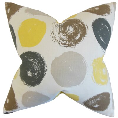 Xenophon Geometric Cotton Throw Pillow Color: Citrine, Size: 22 x 22
