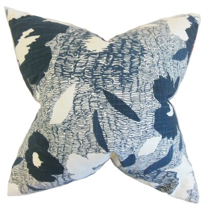 Catrina Geometric Floor Pillow Color: Blue