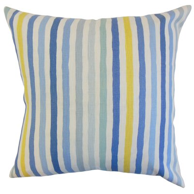 Islay Stripe Linen Throw Pillow Color: River, Size: 24 x 24