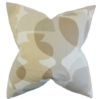 Orla Geometric Linen Throw Pillow Color: Sandstorm, Size: 24 x 24