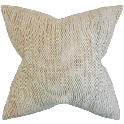 Chrisholm Striped Throw Pillow Color: Natural, Size: 24 x 24