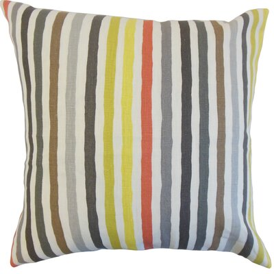 Islay Stripe Linen Throw Pillow Color: Multi, Size: 18 x 18