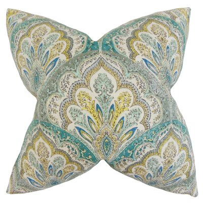 Xanthipe Paisley Cotton Throw Pillow Color: Caribbean, Size: 24 x 24